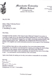 Manchester Twp QE ty Letter 96