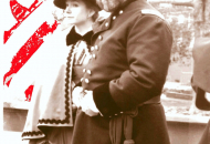 Grant and Mrs w colored flag bw pics 91sepia