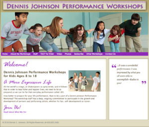 Dennis Johnson Performance Workshops